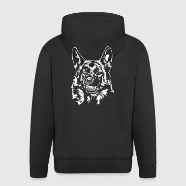 GERMAN SHEPHERD - German Shepherd bad - Men's Premium Hooded Jacket