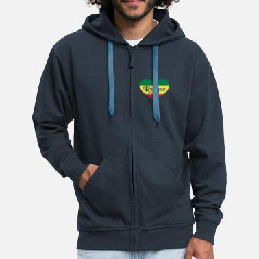 Reggae Music reggae - Men's Premium Hooded Jacket