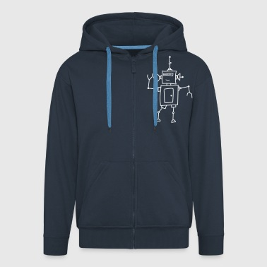 Robo Dance - Men's Premium Hooded Jacket