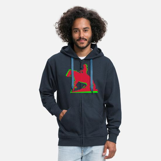 Western Riding Hoodies & Sweatshirts - Western Riding Man - Men's Premium Zip Hoodie navy