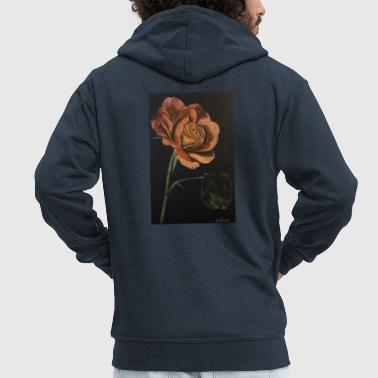 Red rose - Men's Premium Hooded Jacket