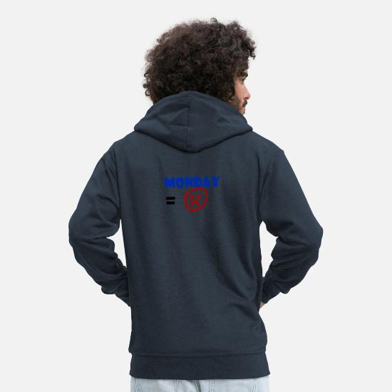 Gift Idea Hoodies & Sweatshirts - Monday - Men's Premium Zip Hoodie navy