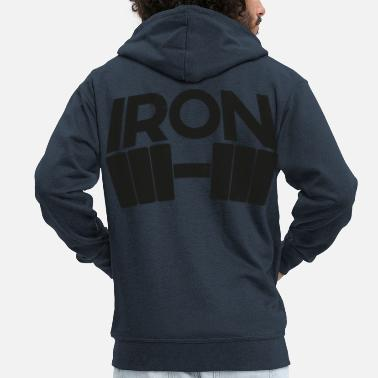 Iron Metal iron - Men's Premium Hooded Jacket