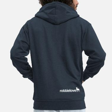 Dog Dancing rottielove - Men's Premium Zip Hoodie