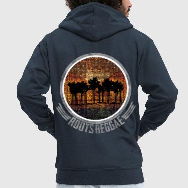 Zimbabwe Roots Reggae Trees - Men's Premium Hooded Jacket