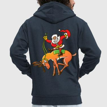 Christmas Rodeo - Men's Premium Hooded Jacket