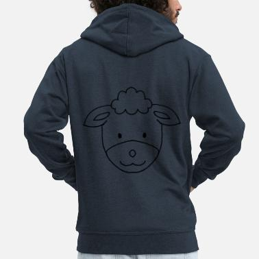 Sheep Sheep - sheep - Men's Premium Hooded Jacket