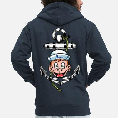 Anchor Sailor seafaring anchor Maritim Ahoi - Men's Premium Zip Hoodie