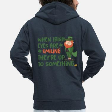 Leprechaun Irish eyes shine - Irish leprechaun - Men's Premium Zip Hoodie