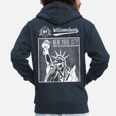 City New York City · Williamsburg - Men's Premium Hooded Jacket
