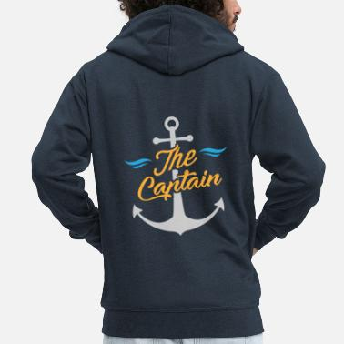 Marinaio Marinaio / Marinaio - The Captain & Anchor - Felpa con zip Premium da uomo