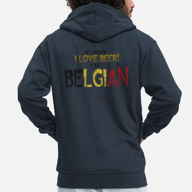 Belgian Belgian - Men's Premium Hooded Jacket