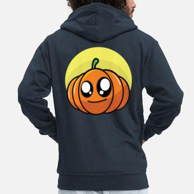 Stylish Funny pumpkin - Men's Premium Zip Hoodie