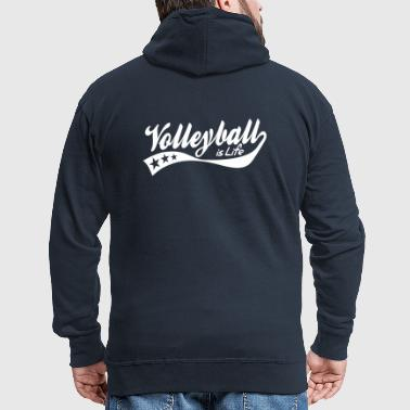 volleyball is life - retro - Veste à capuche Premium Homme