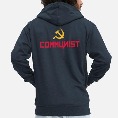 Cccp Communist with hammer and sickle - Men's Premium Zip Hoodie