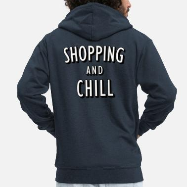 Netflix Shopping and Chill - Men's Premium Hooded Jacket