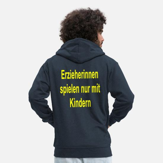 Play Hoodies & Sweatshirts - educator - Men's Premium Zip Hoodie navy