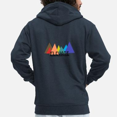 Elevator Elevated to the Mountains - Men's Premium Zip Hoodie
