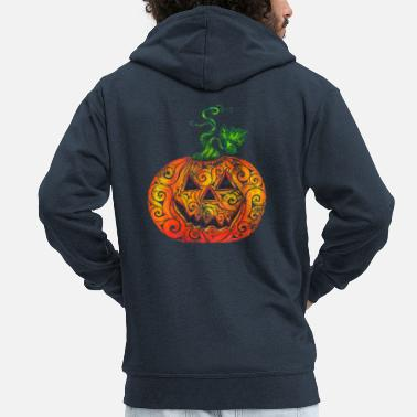 Tool Swirly Pumpkin - Men's Premium Zip Hoodie
