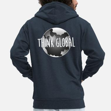 Global think global / global denken / global - Männer Premium Kapuzenjacke