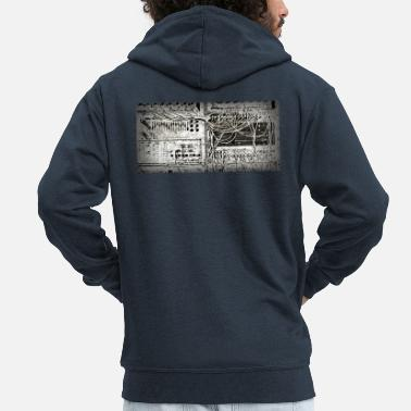 Analogue Vintage analogue synth - Men's Premium Zip Hoodie