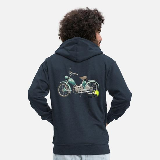 Bikes And Cars Collection Sudaderas - SR Simson Moped DDR oldschool ossi best roller GDR - Chaqueta con capucha premium hombre azul marino