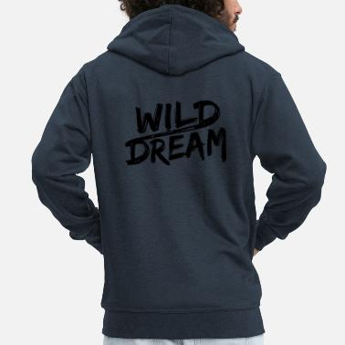 Hustler WILD DREAM - gift idea - Men's Premium Hooded Jacket
