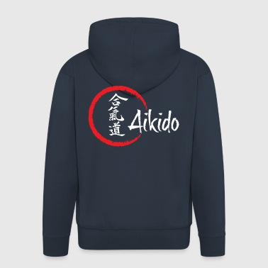Aikido for dark background - Men's Premium Hooded Jacket