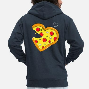 Partner Cardio pizza Fast Food - salami partner shirt - Men's Premium Zip Hoodie