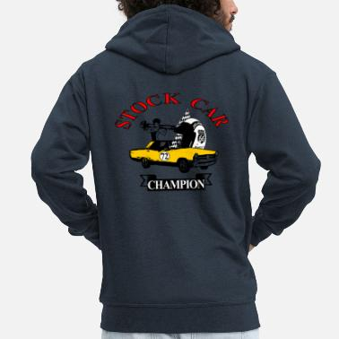 Muscle Car Stock Car Muscle Car - Men's Premium Zip Hoodie