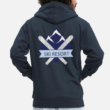 Ski Resort Ski Resort - Men's Premium Zip Hoodie