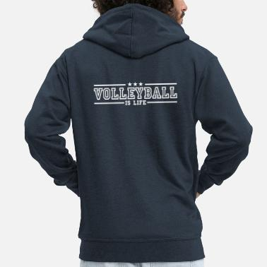 Volley volleyball is life deluxe - Chaqueta con capucha premium hombre