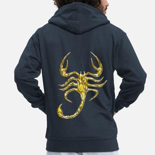 b31008f1836 Scorpion Chaqueta Scorpio Premium Hombre Capucha Digital Con Gold xqqHArO