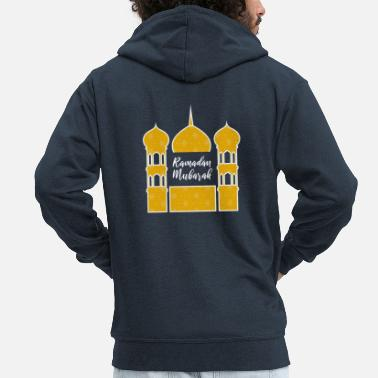 Islam Ramadan Mubarak 5 pillars of Islam fasting - Men's Premium Hooded Jacket