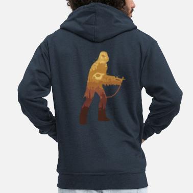 Chewbacca Chewbacca Sagoma - Felpa con zip premium uomo e03adf17924b