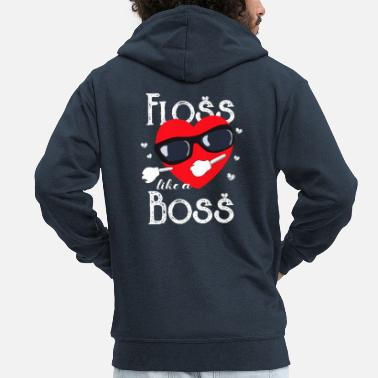 Like A Boss Floss Like A Boss - Felpa con zip Premium da uomo