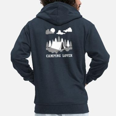 Switzerland Camping Lover t-shirt design gift - Men's Premium Zip Hoodie