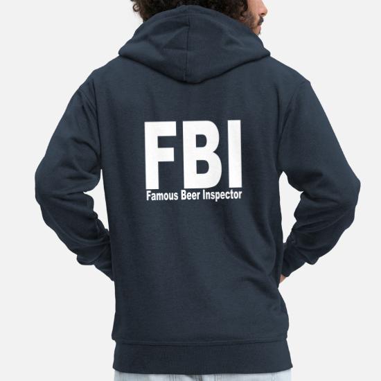 fbi Männer Premium Kapuzenjacke   Spreadshirt