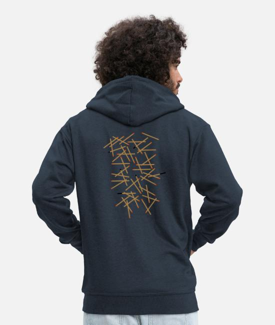 Art Hoodies & Sweatshirts - Matches - Men's Premium Zip Hoodie navy