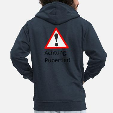 Puberty Attention puberty - Men's Premium Zip Hoodie