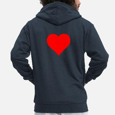 Heart Red Heart - Men's Premium Zip Hoodie