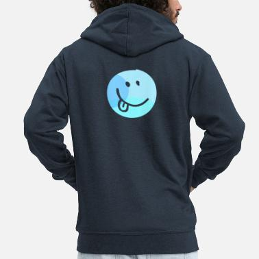 Emoji emoji tongue - Men's Premium Zip Hoodie
