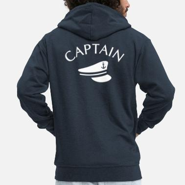 Captain CAPTAIN CAPTAIN HAT - Men's Premium Zip Hoodie