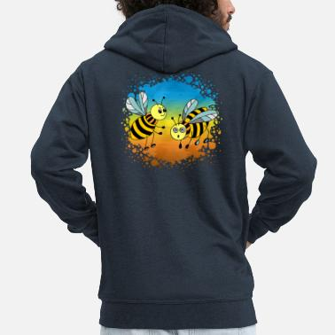 Womens Bee Insects - Men's Premium Zip Hoodie
