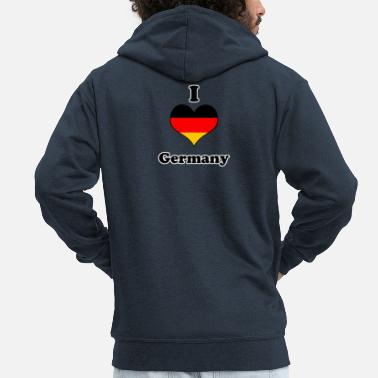 I Love Germany I love germany - Chaqueta con capucha premium hombre