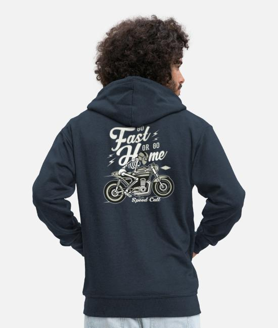 Bikes And Cars Collection Pullover & Hoodies - Go Fast Or Go Home - Männer Premium Kapuzenjacke Navy