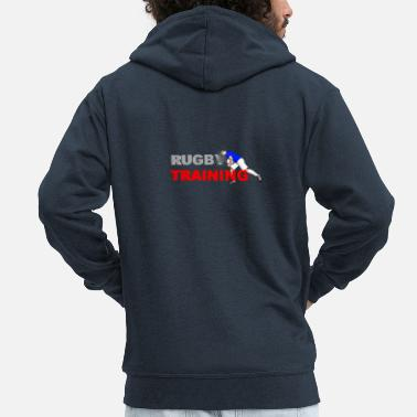 Lyon Rugby Toulousain RUGBY TRAINING - Men's Premium Zip Hoodie