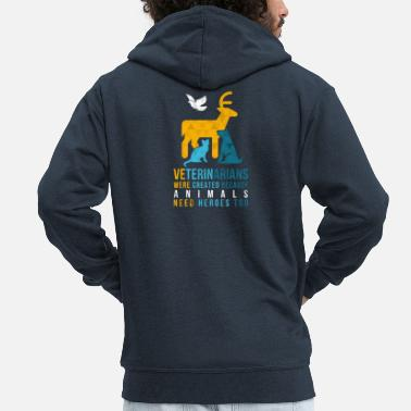 Practice Animals need heroes-vet - Men's Premium Zip Hoodie
