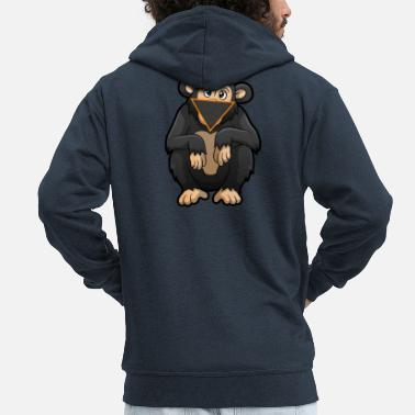 Facemask Facemask Monkey - Men's Premium Zip Hoodie