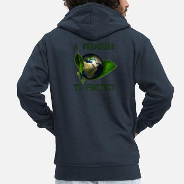 A Treasure to Protect (our Planet) - Männer Premium Kapuzenjacke